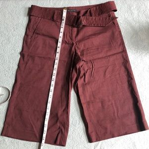 Theory Burgundy Bermuda Shorts